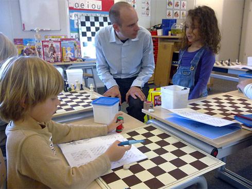 Voorbeeld schaaktraining bij DCA schaakkamp 2016